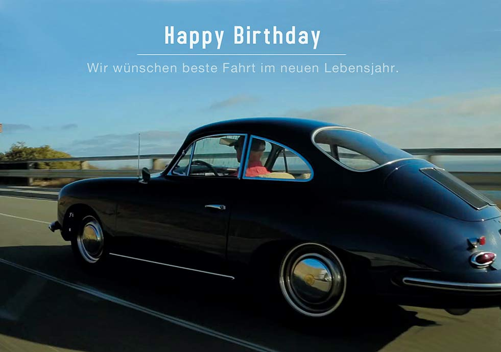Happy Birthday Geburtstag  Grusskarte AM 598