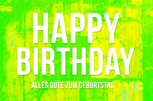 Happy Birthday Geburtstag  Grusskarte AM 858